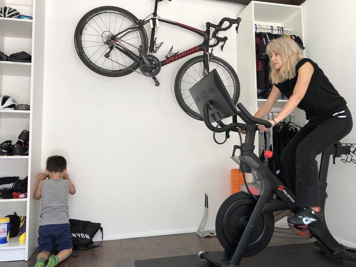 Convopage : @ClueHeywood : Love putting my Peloton bike in